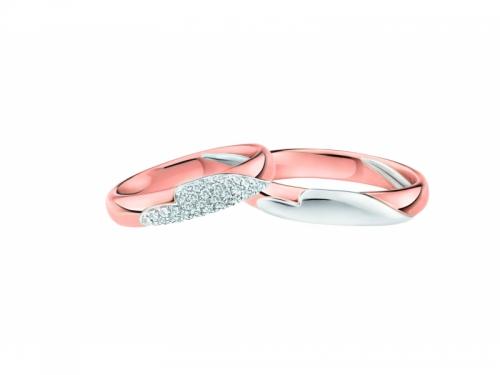 Fedi Nuziali in Oro Rosa e Bianco 3063