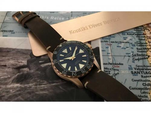 Orologio KonTiki Diver Bronze Manufacture Limited Edition