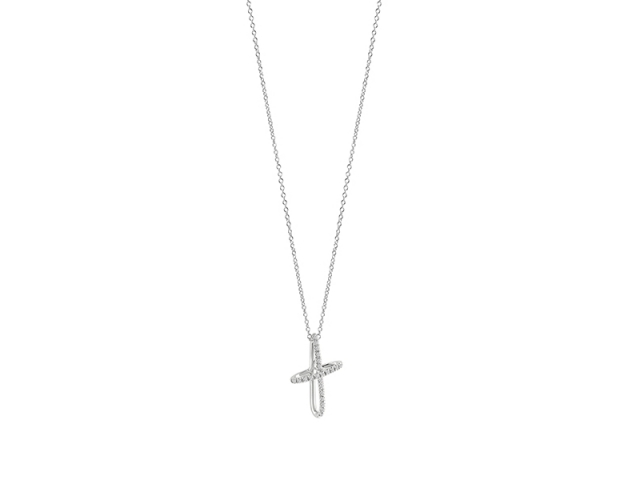 Women's Necklace Match Point Gold and Diamonds