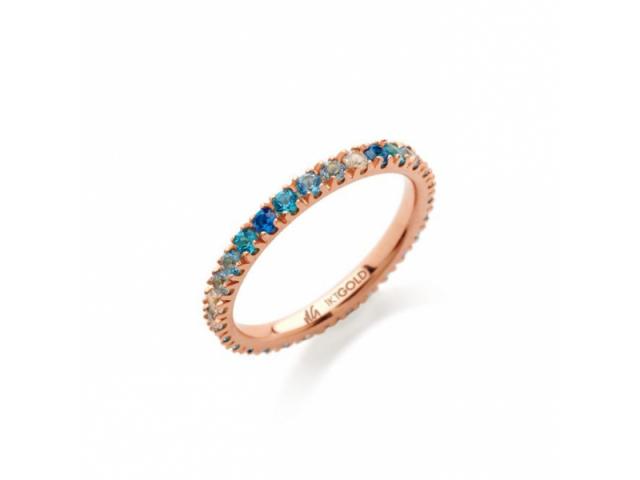 Amalfi Full Eternity Azzurro Ring