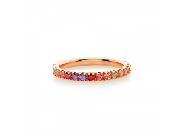 Amalfi Full Eternity Rosé Ring