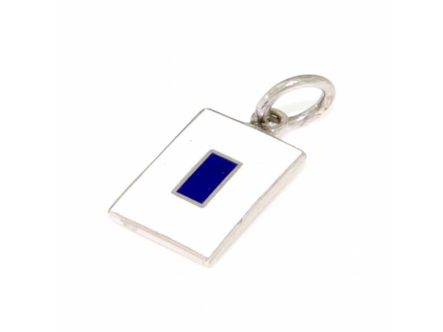 Ciondolo Alfabeto Nautico Lettera S in argento