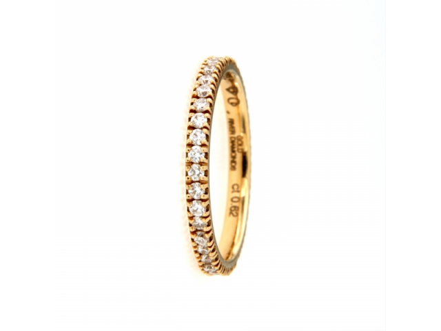 River Diamonds and Rose Gold Ring