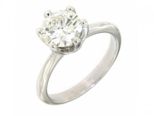 Anello Oro Bianco e Diamante 1,70ct