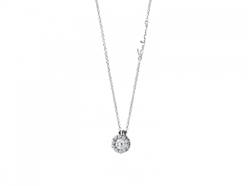 Corona Pendant Diamonds and White Gold