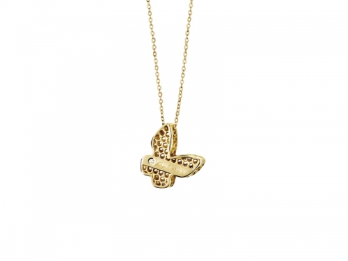 Golden Cage Butterfly Necklace