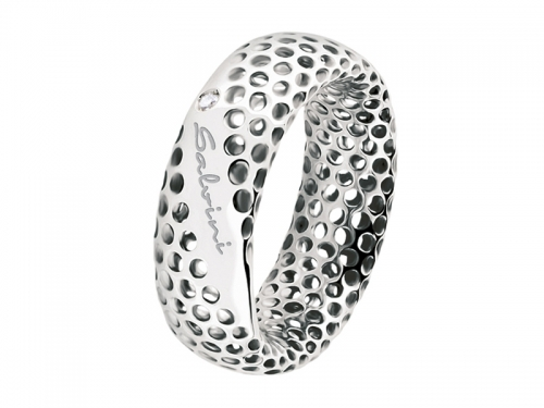Women Salvini Golden Cage White Ring