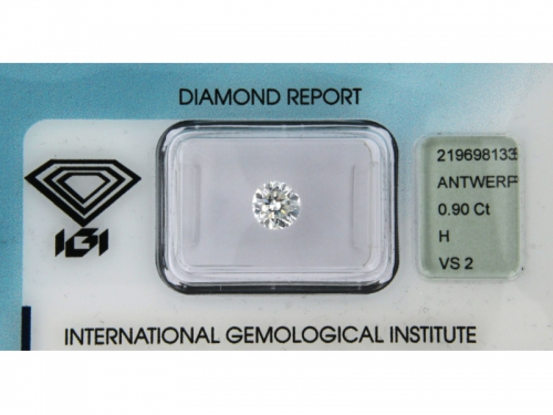 Diamante IGI Naturale 0,90 ct H Color