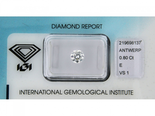 Brilliant-cut IGI Diamond E Color 0,80 ct