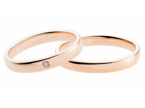 Polello Wedding Rings 2688 Rose Gold