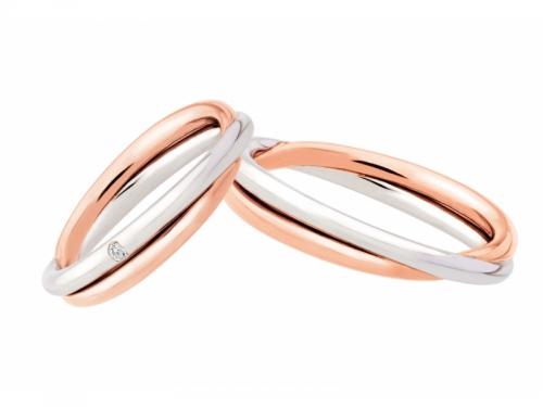 Fedi Polello 3071 Oro Rosa e Bianco