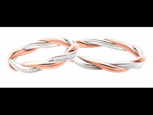Fedi Polello 3113 Oro Rosa Bianco e Diamanti