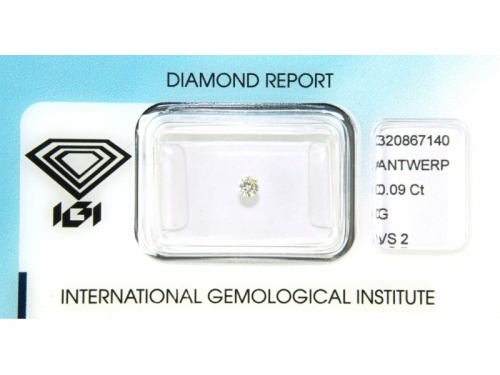 Brilliant-cut IGI Diamond G Color 0,09 ct