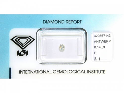 Diamante IGI Naturale 0.14 ct E Color