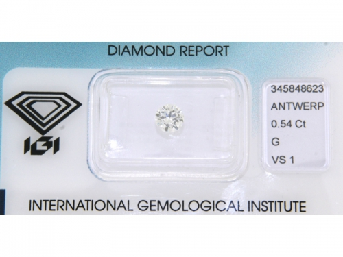 Brilliant-cut IGI Diamond G Color 0.54 ct
