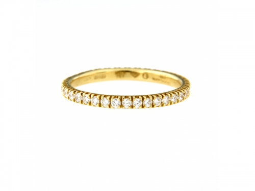 River Diamonds Gold Ring
