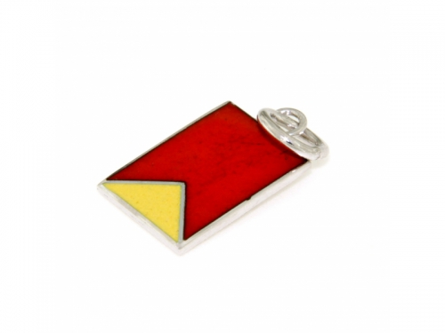 Nautical Signal Flag Charm Letter B