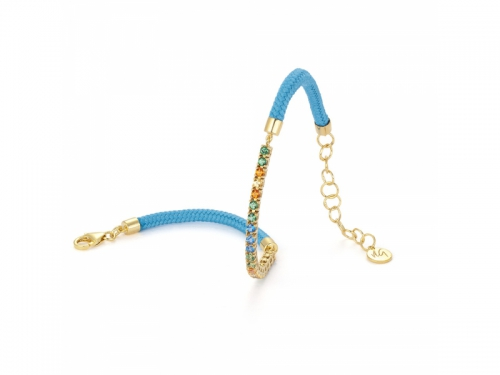 Capri Bracelet Tropical Light Blue Cord