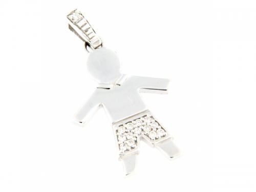 White Gold Boy Diamond Pendant