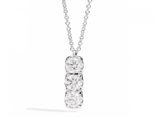 ReCarlo Anniversary Necklace Three Diamonds
