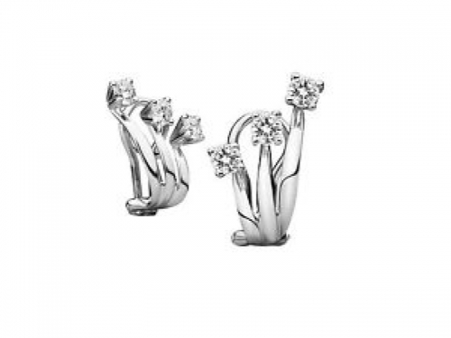 Eternity Earring White Gold and Diamonds