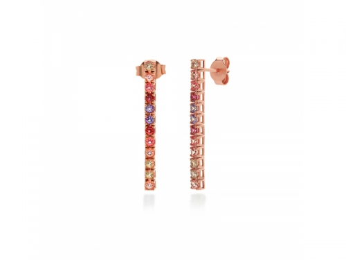 Amalfi Tennis Rosé Earrings