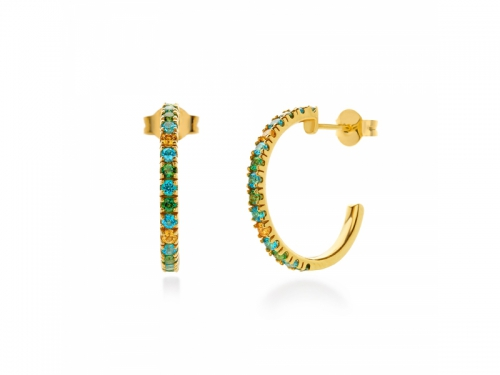 Amalfi Paradiso Circle Earrings