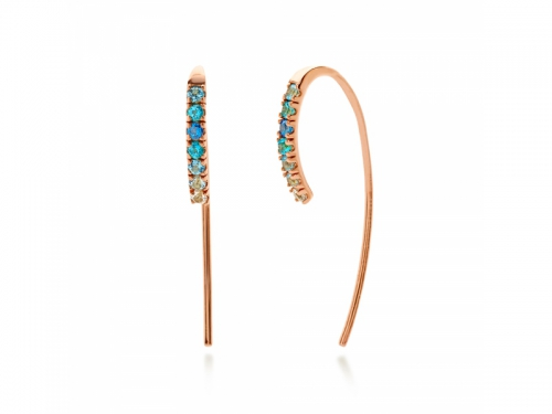 Amalfi Fish Hook Azzurro Earrings