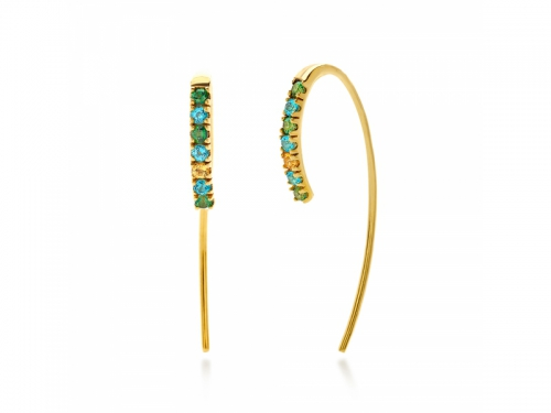 Amalfi Fish Hook Turquoise Earrings