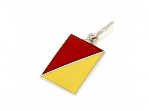 Nautical Signal Flag Silver Charm Letter O