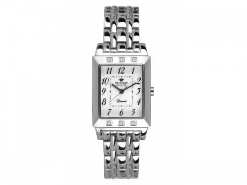 Carré Steel Quartz Watch with Diamonds