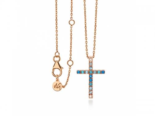 Amalfi Cross Azzurro Pendant