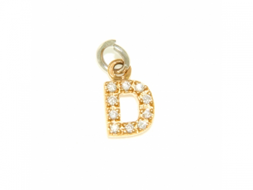 Letter D Pendant gold and diamonds
