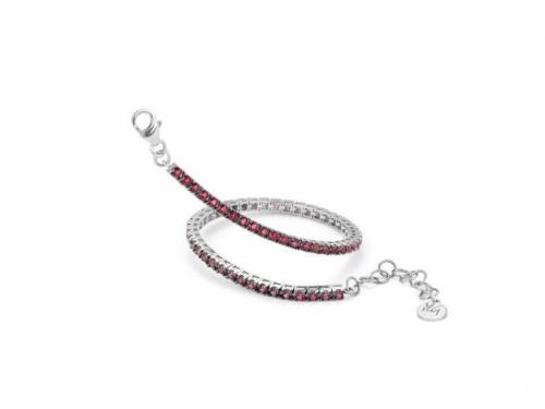 Portofino Tennis Bracelet Red Topaz
