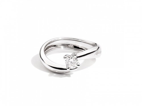 Anello Eternity Oro Bianco Diamanti 0,19 ct