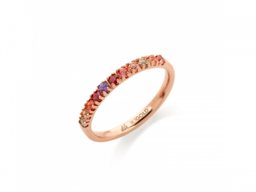 Amalfi Half Eternity Rosé Ring