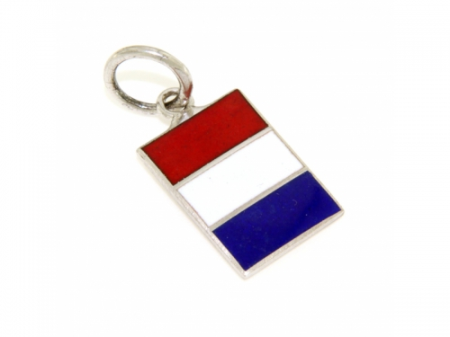 Nautical Signal Flag Silver Medal Letter T
