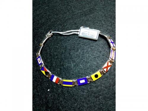 Silver Bracelet Enameled Nautical Flags 6,50mm