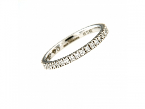 River Diamonds White Gold Ring