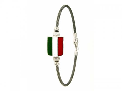 Italian Silver Badge Bracelet