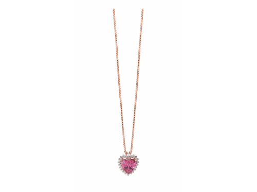 Sorrento Necklace Rose Gold, Quartz, and Diamonds