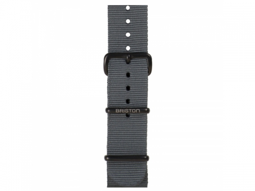 Grey NATO Strap Matte Black Loops