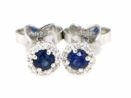 Gemma Earrings Diamonds & Sapphire