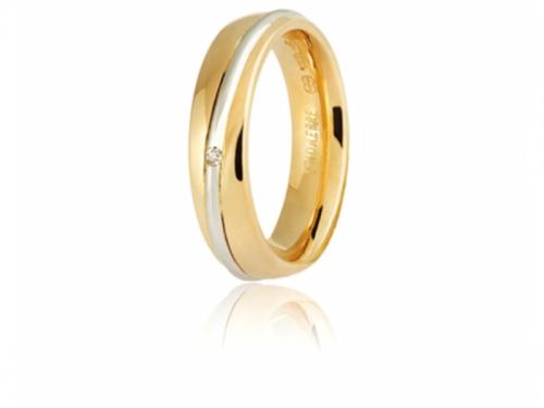 Fede 9.0 Saturno Oro Giallo Bianco Diamante