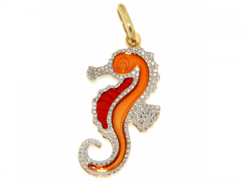Yellow Gold Sea Horse Pendant