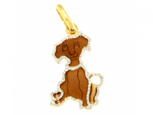 Yellow Gold Puppy Pendant