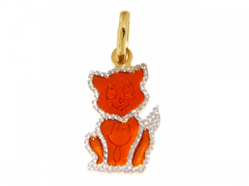 Cat Gold Pendant