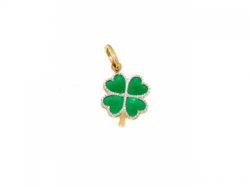 Four-Leaf Clover Gold Pendant