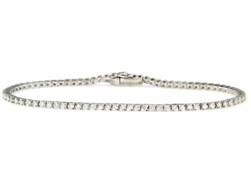 Tennis Bracelet White Gold and 0,75 ct Diamonds