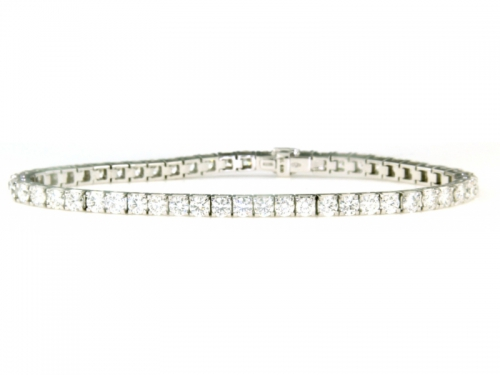 Tennis Bracelet White Gold and 6 ct Diamonds